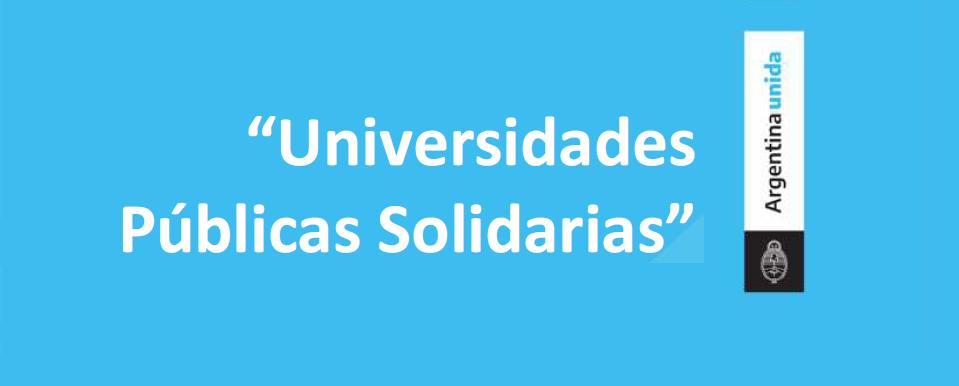 """Voluntariado Universitario """"Universidades Públicamente Solidarias"""""""
